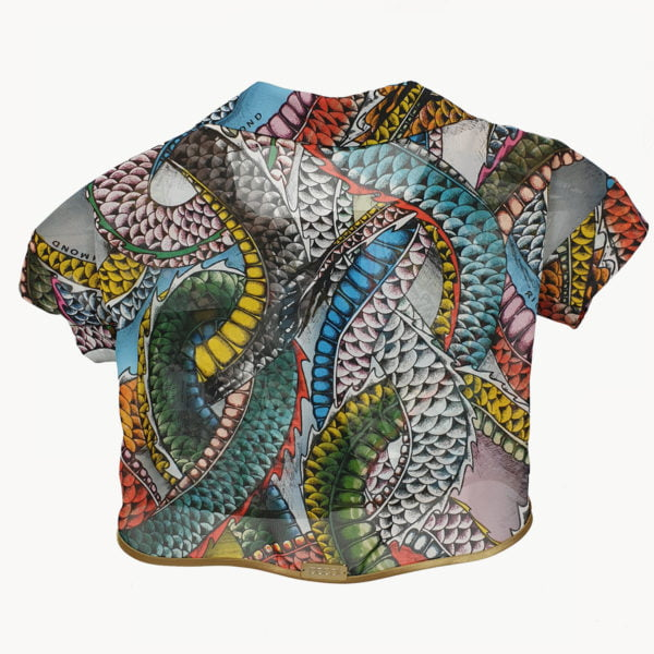 Airy shirt with colorful dragons (Richmond)